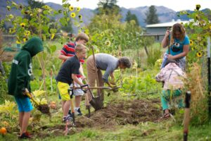 Classrooms in Bloom provides hands-on education integrated through the school's curriculum through a half acre garden on the high school and elementary school campus in Winthrop.