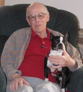Ken Westman and his beloved dog, Snoopy.