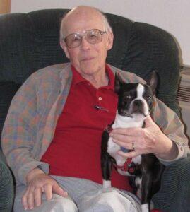 Ken Westman and his beloved dog, Snoopy.